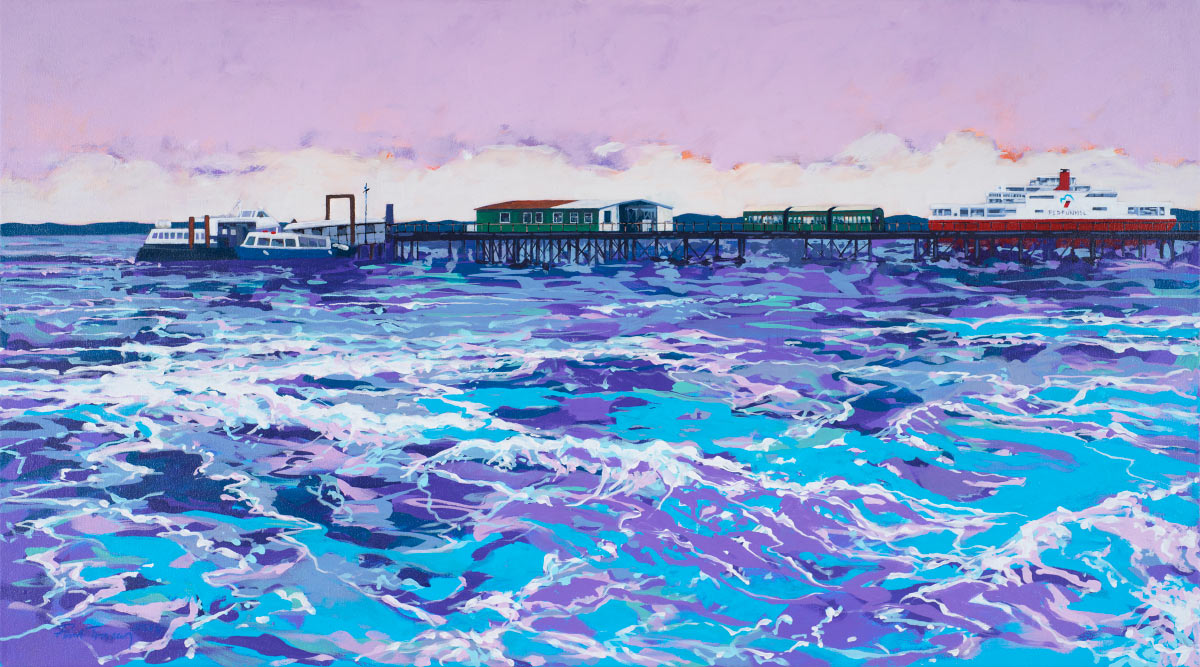 Painting of Hythe Pier