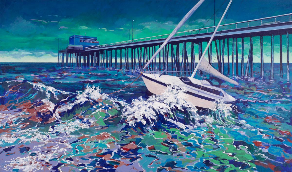 Painting of Newport Beach Pier