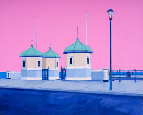 Painting of Redcar Pier