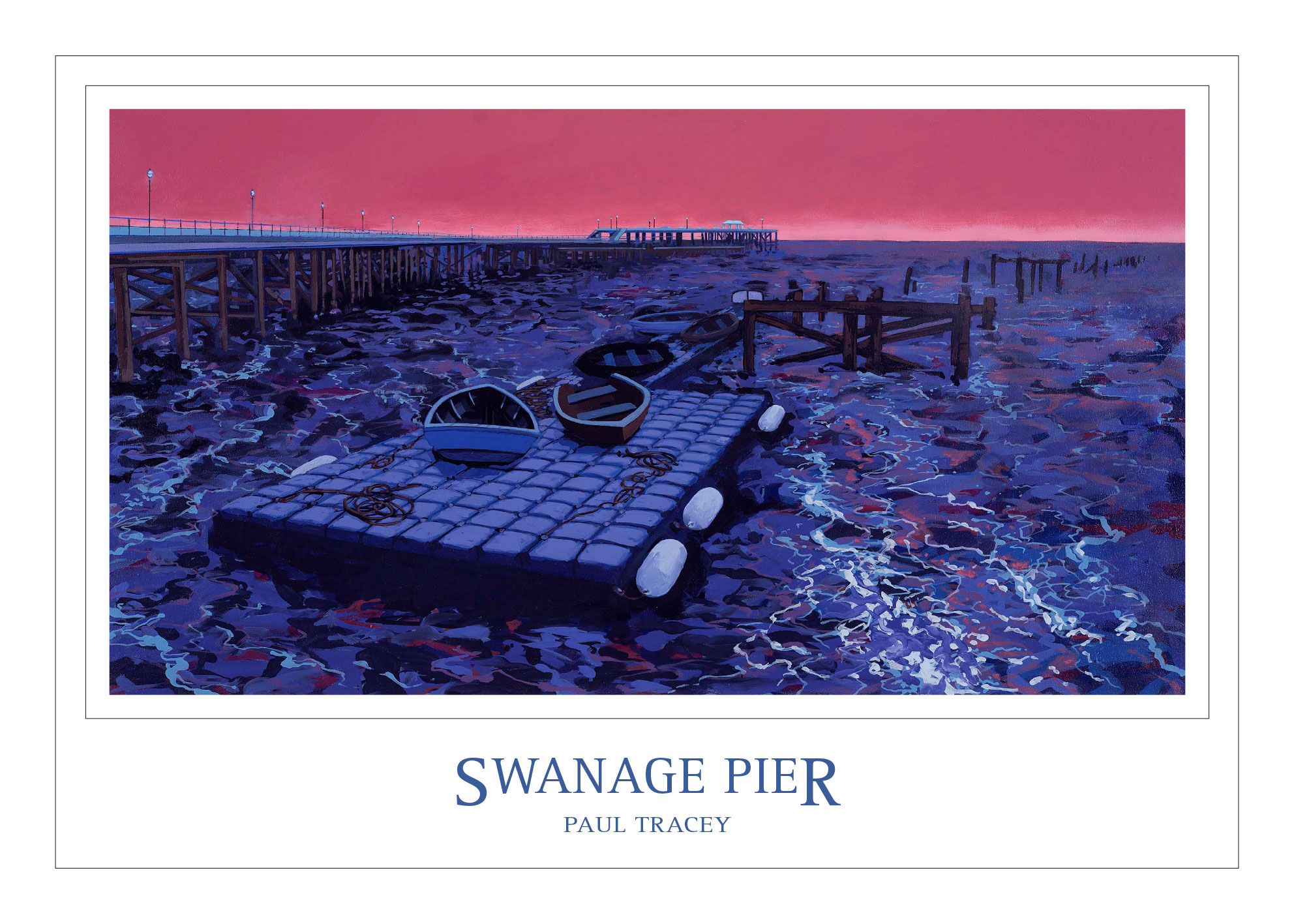 Poster of Swanage Pier Painting