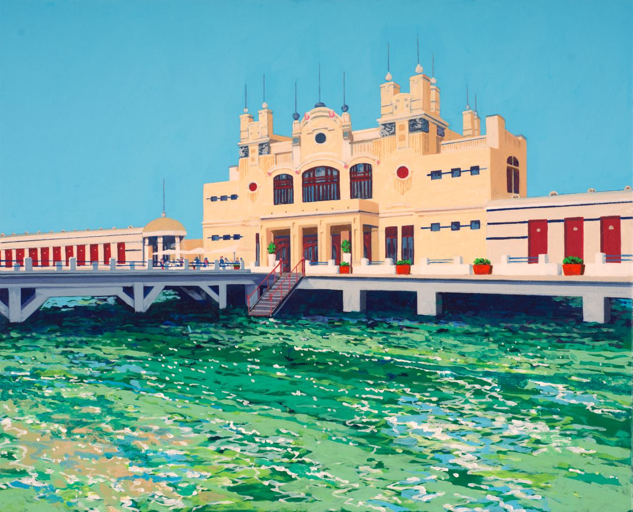 The Antico Stabilimento Balneare, Mondello beach, Palermo