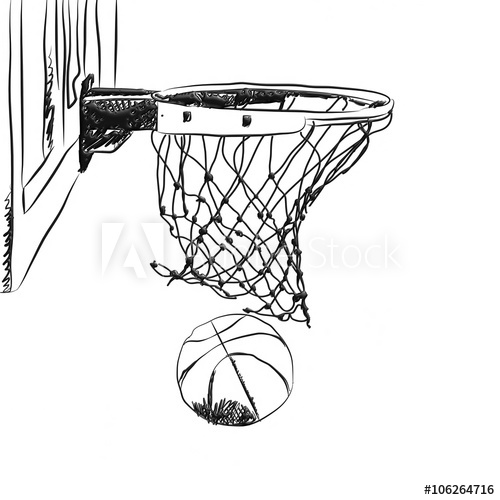 How To Draw A Basketball Hoop Sideways Drawing Art Ideas