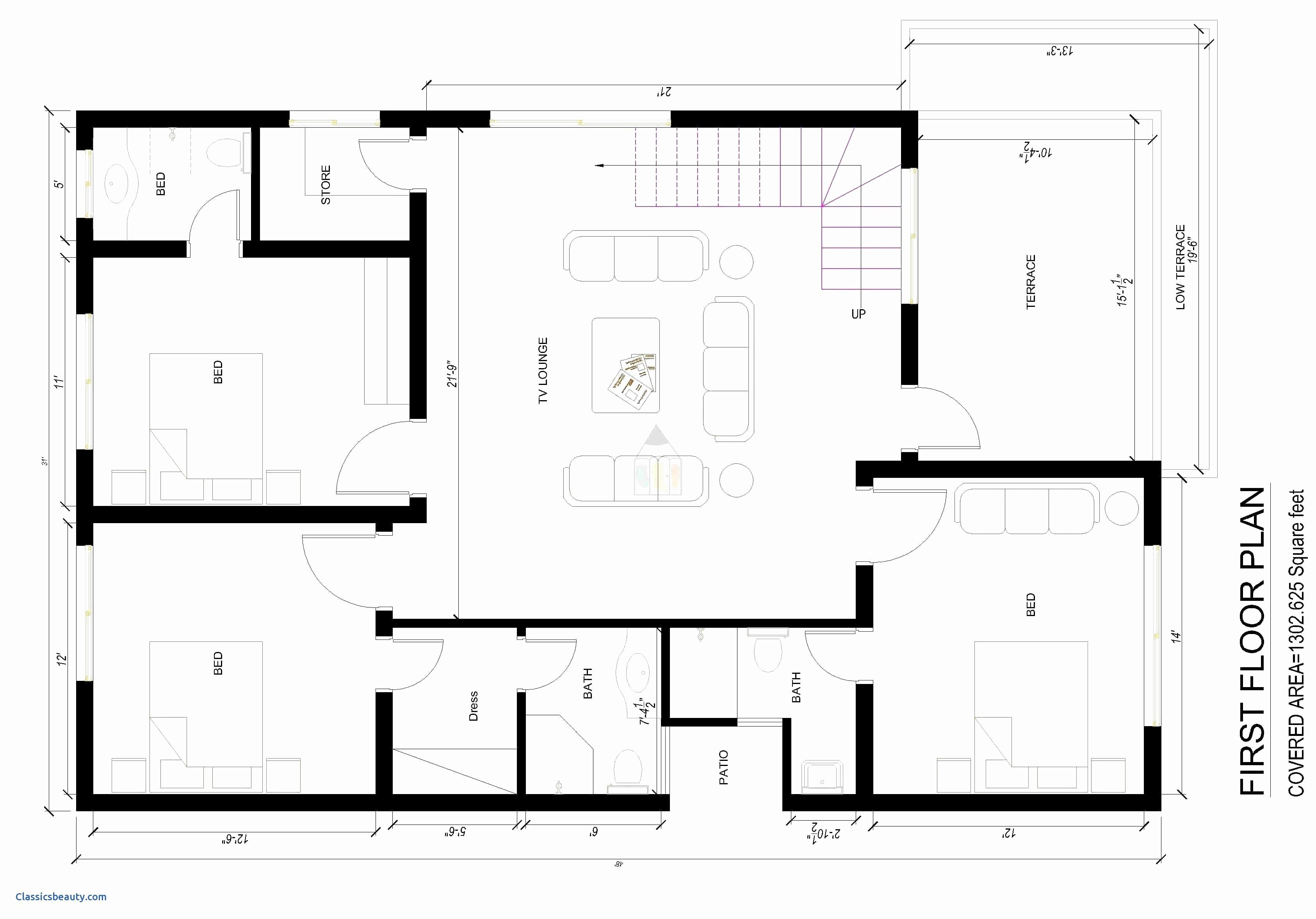 House Plan Autocad