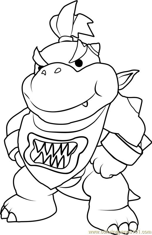 bowser coloring page # 28