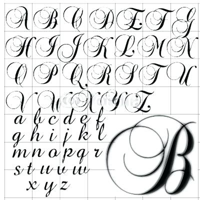 Drawing Cursive Letters At