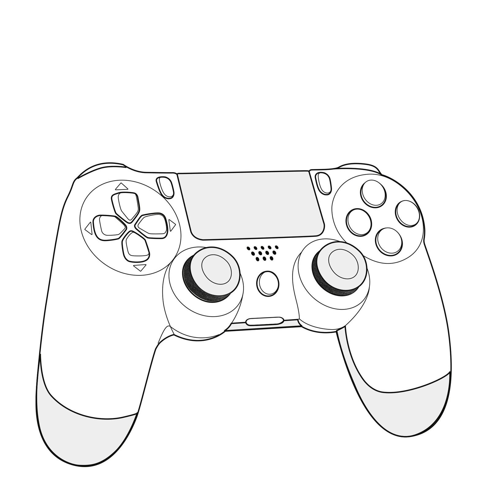 Drawing Of A Ps4 Controller At Paintingvalley
