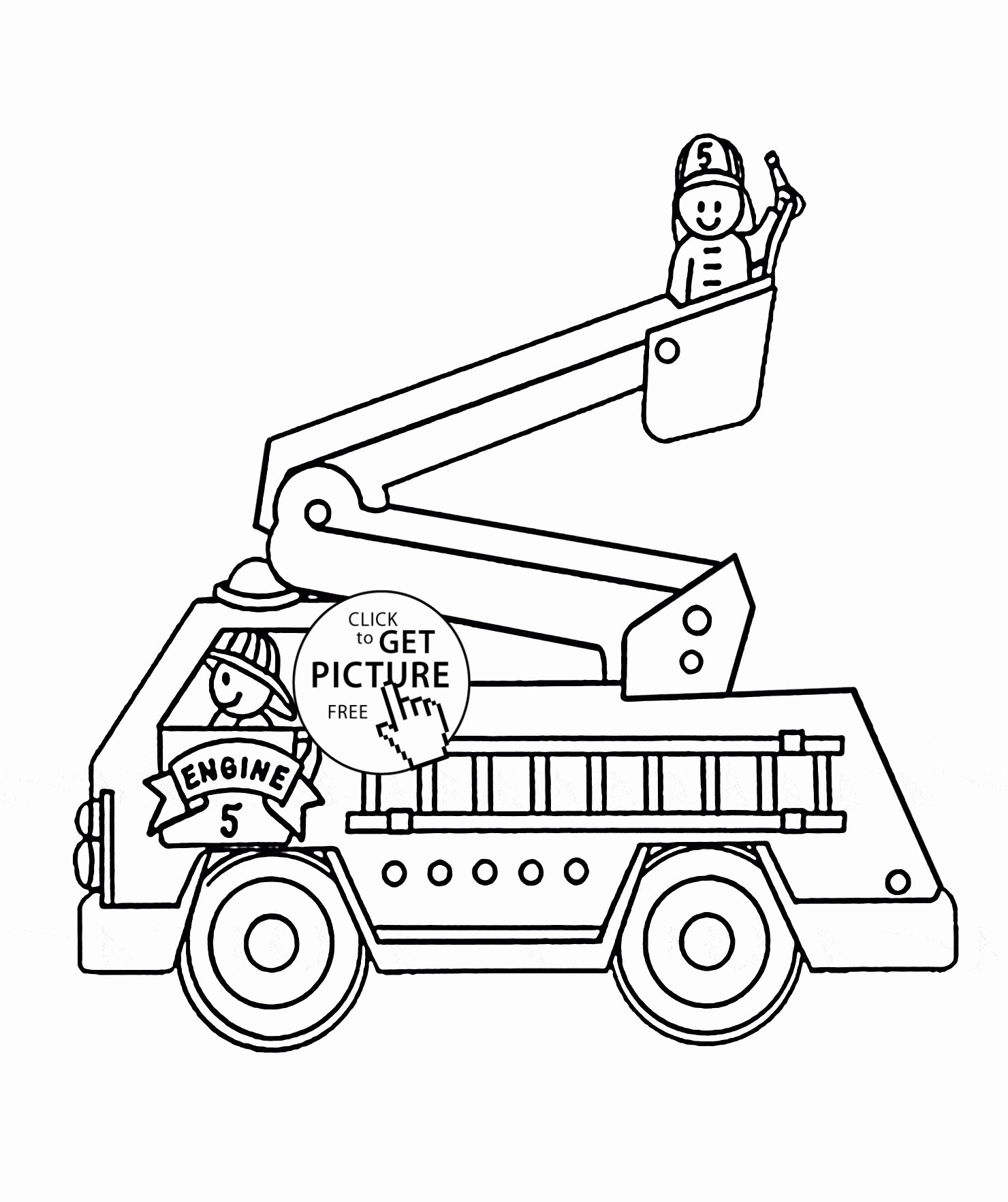 Fire Truck Drawing For Kids At Paintingvalley