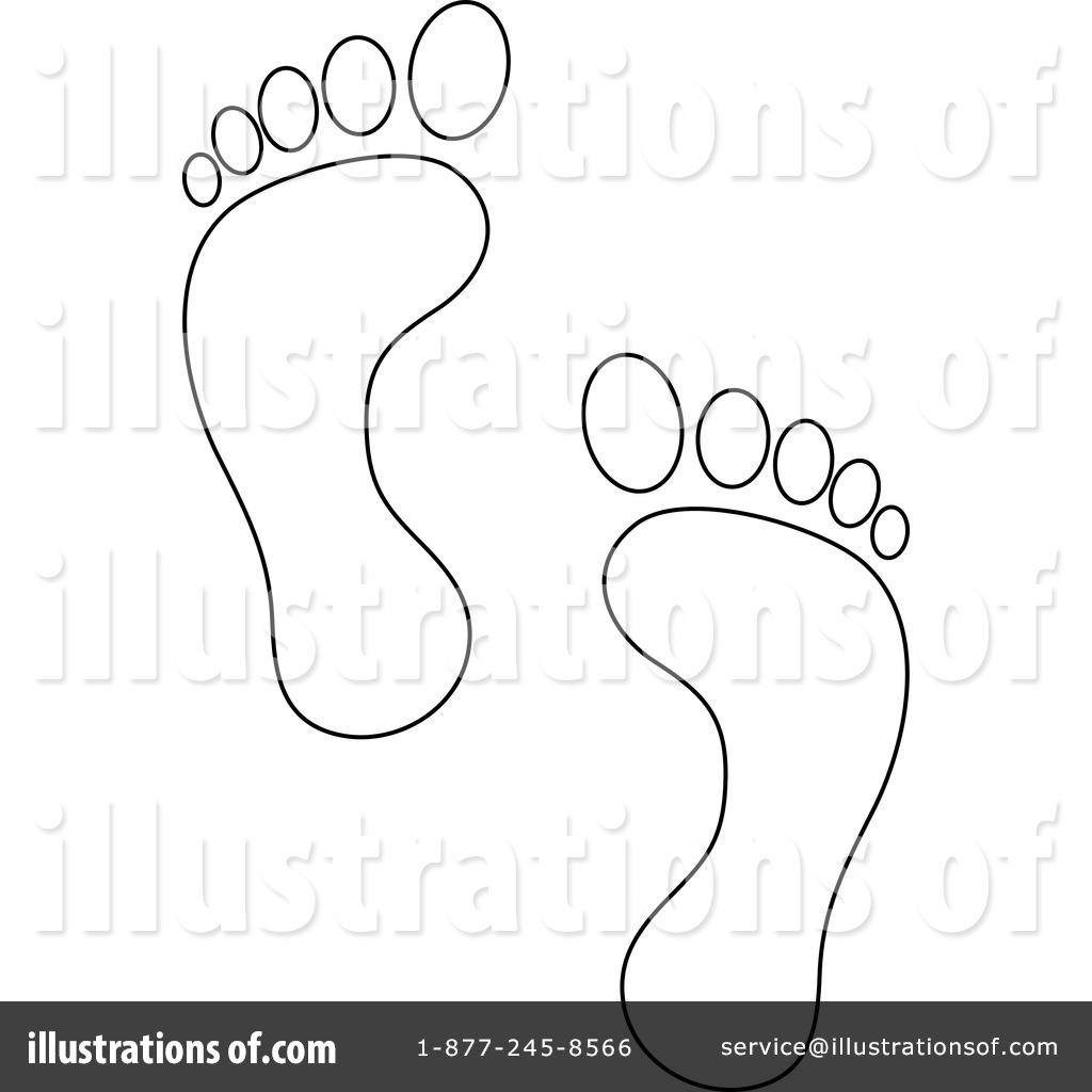 Footprint Line Drawing At Paintingvalley