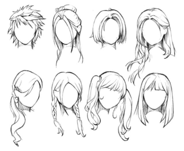 girl hairstyles drawing at paintingvalley | explore