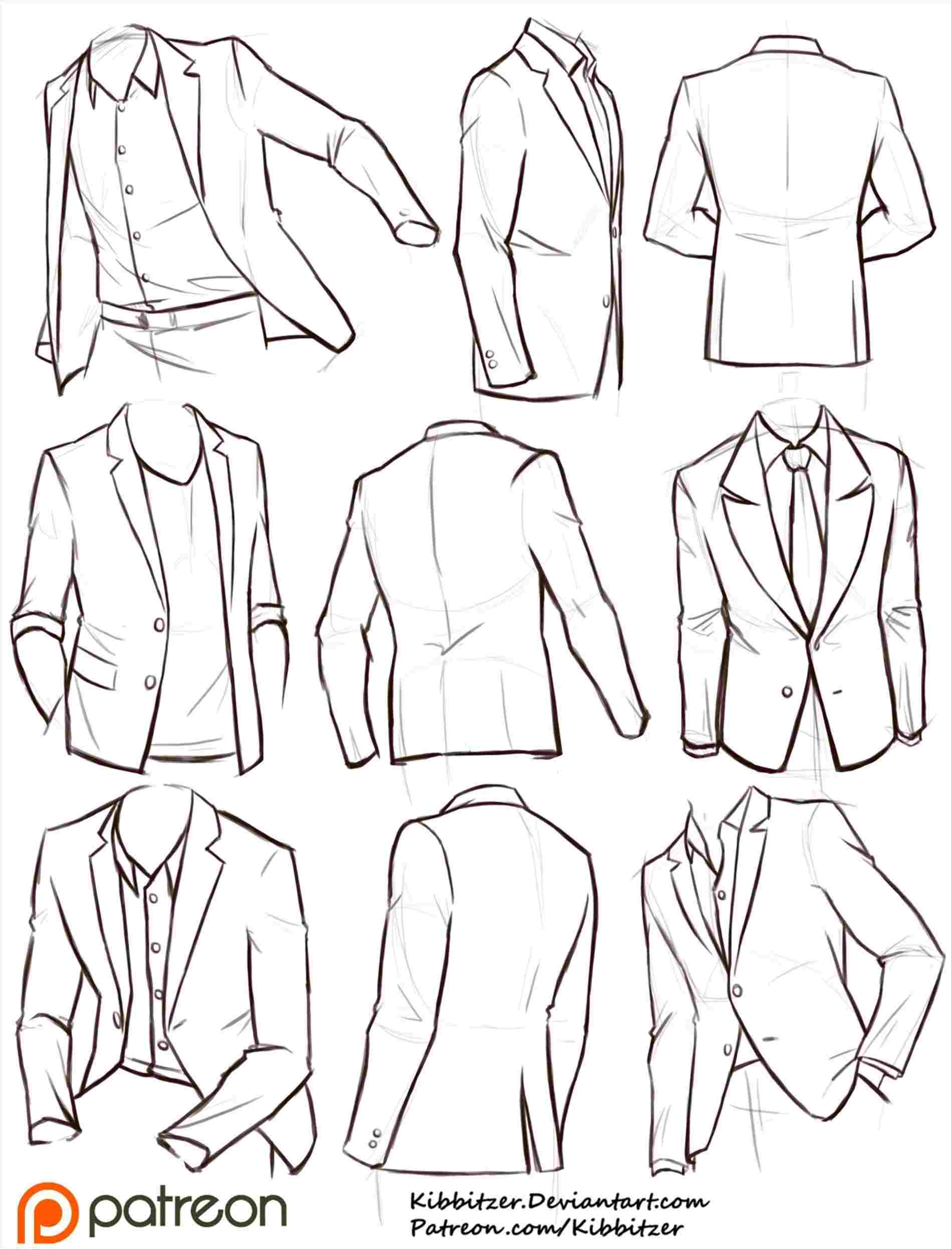 Jacket Drawing Reference At Paintingvalley