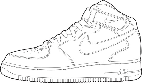 jordan shoe coloring pages # 79