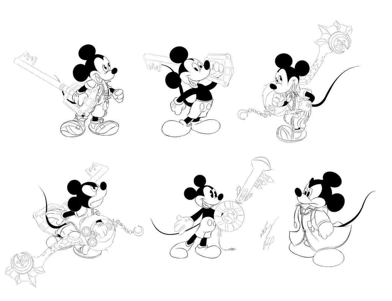 Mickey Mouse Line Drawing At Paintingvalley