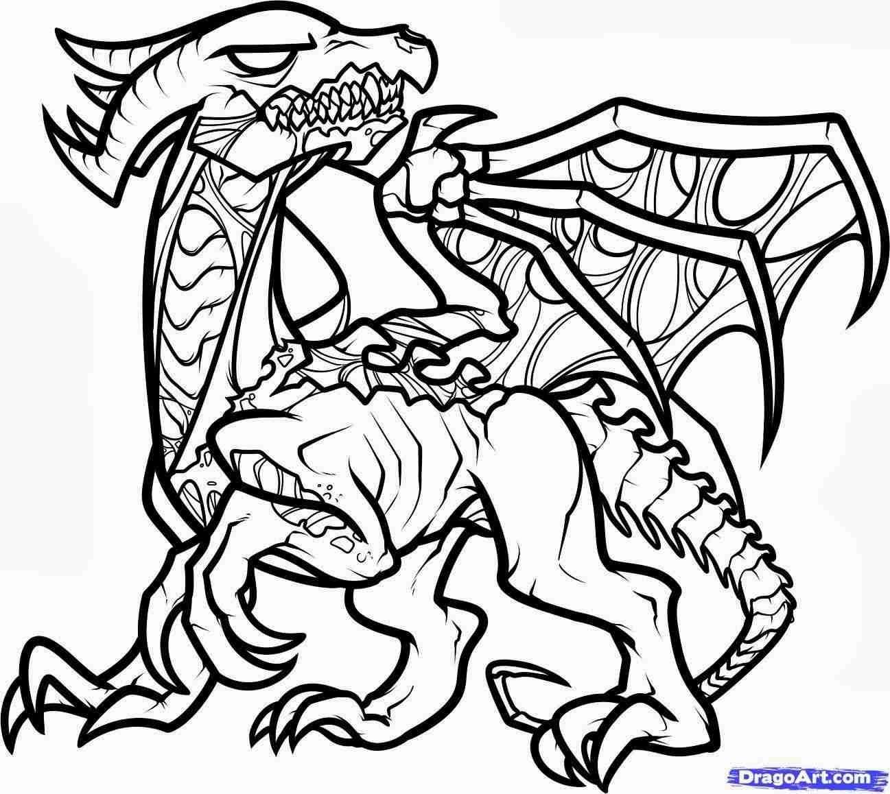 Minecraft Ender Dragon Coloring Pages Novocom Top