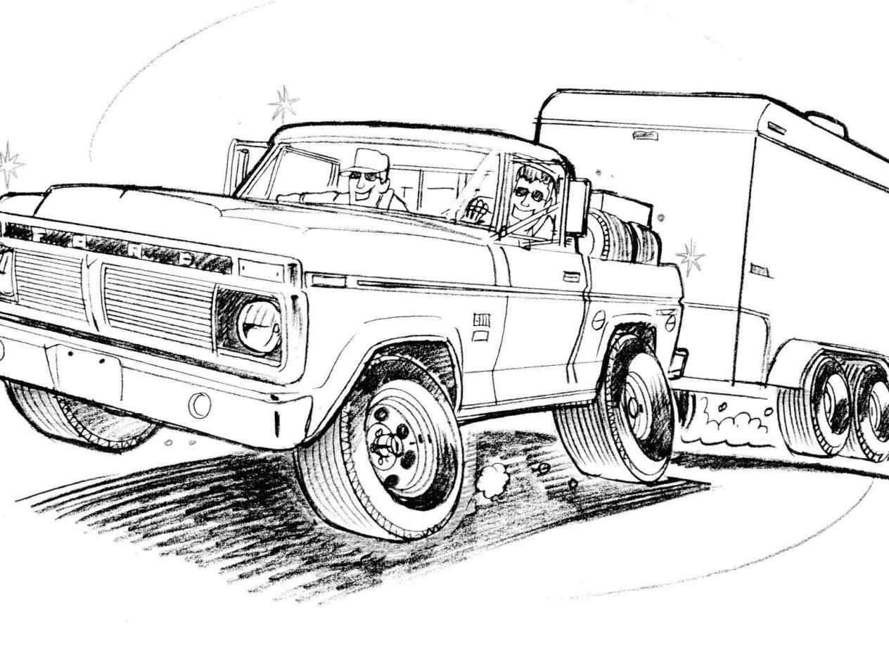 Old Ford Truck Drawing At Paintingvalley