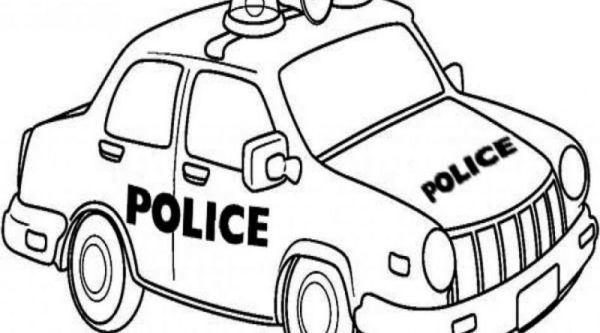 police car coloring page # 73