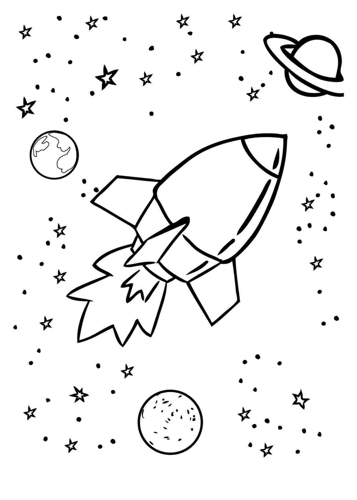 Rocket Drawing For Kids At Paintingvalley