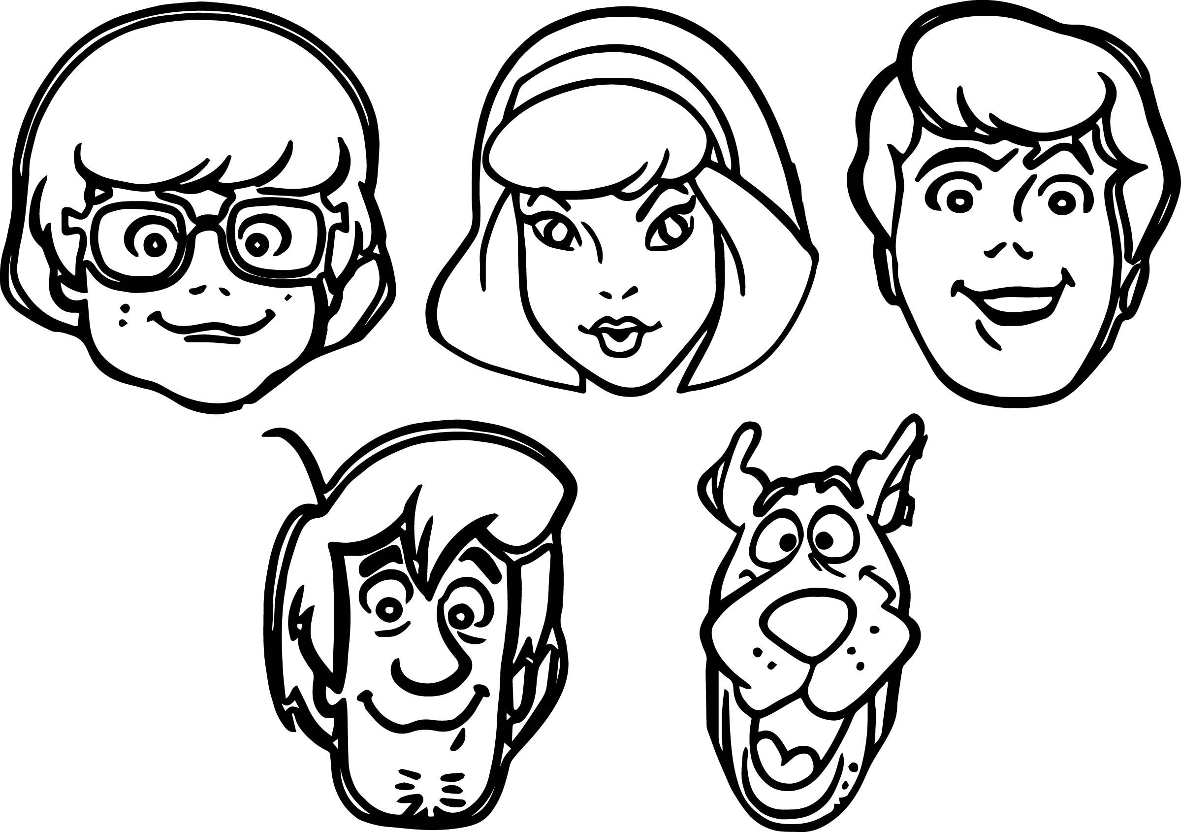 Scooby Doo Face Drawing At Paintingvalley