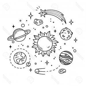 Solar System Cartoon Drawing at PaintingValleycom