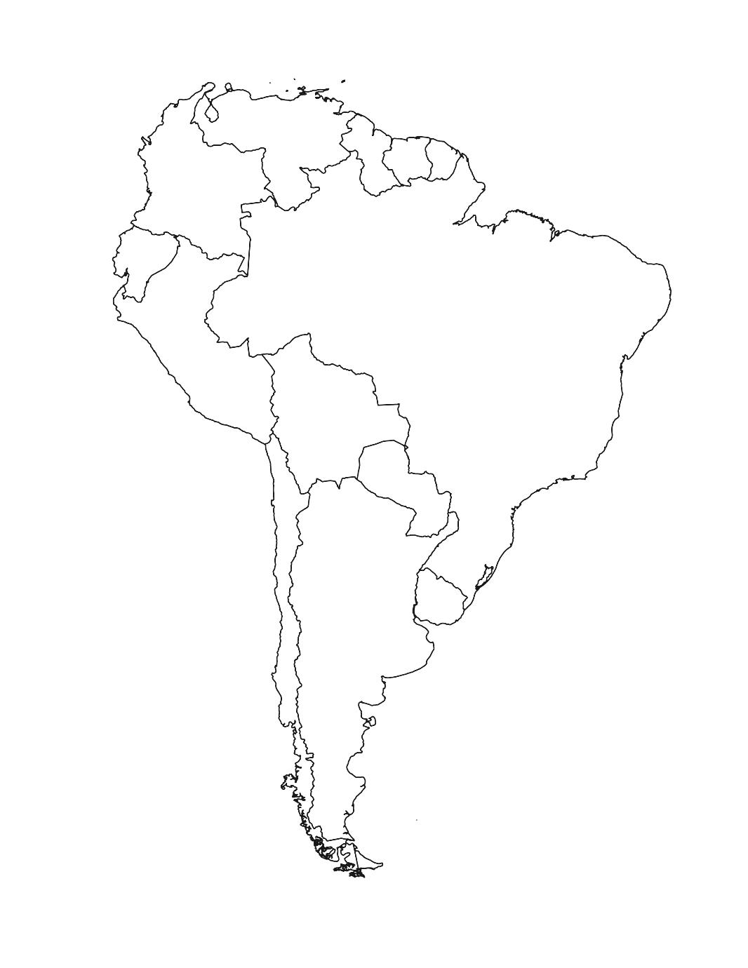 30 North And South America Map Blank