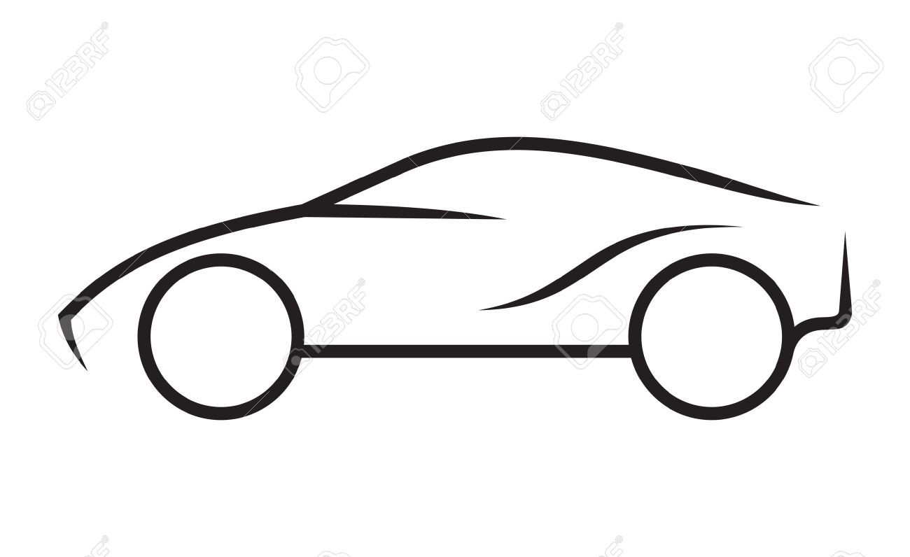 Sports Car Drawing Outline At Paintingvalley
