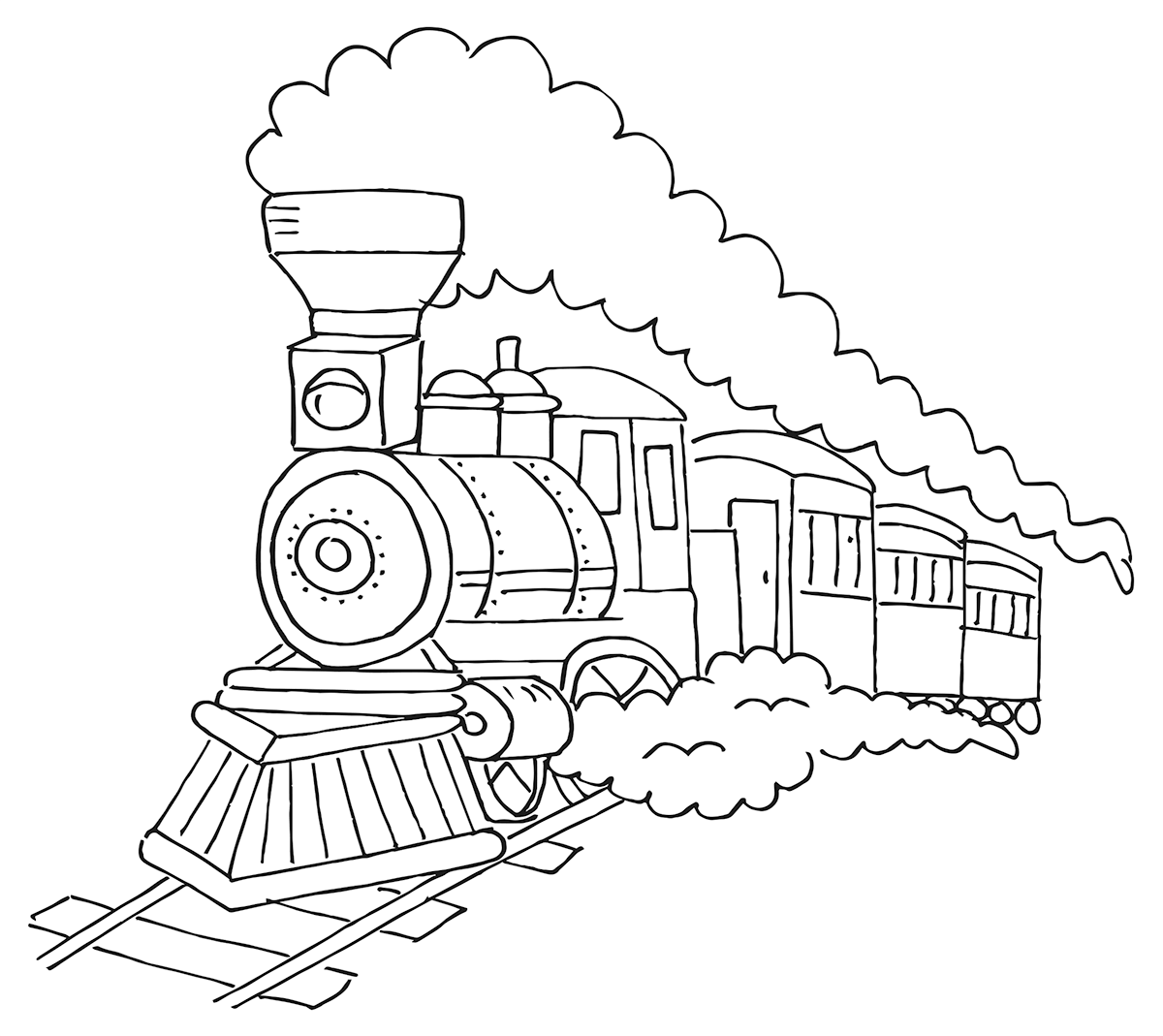 Steam Train Drawing At Paintingvalley