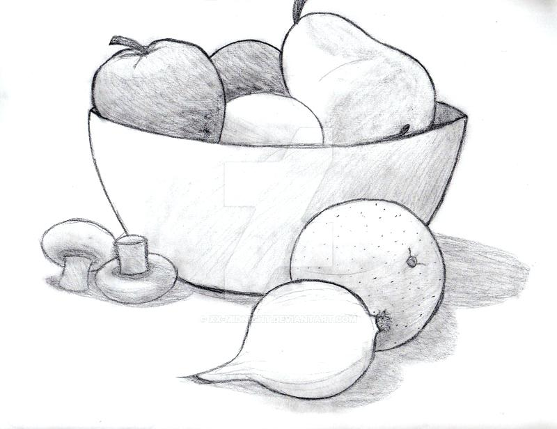 Pencil Easy Still Life Drawing Fruits - Novocom.top