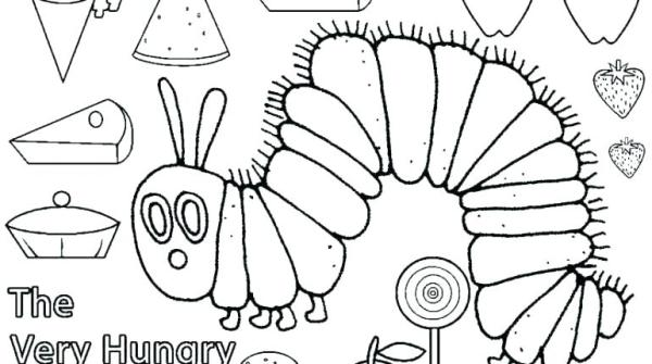 hungry caterpillar coloring pages # 5