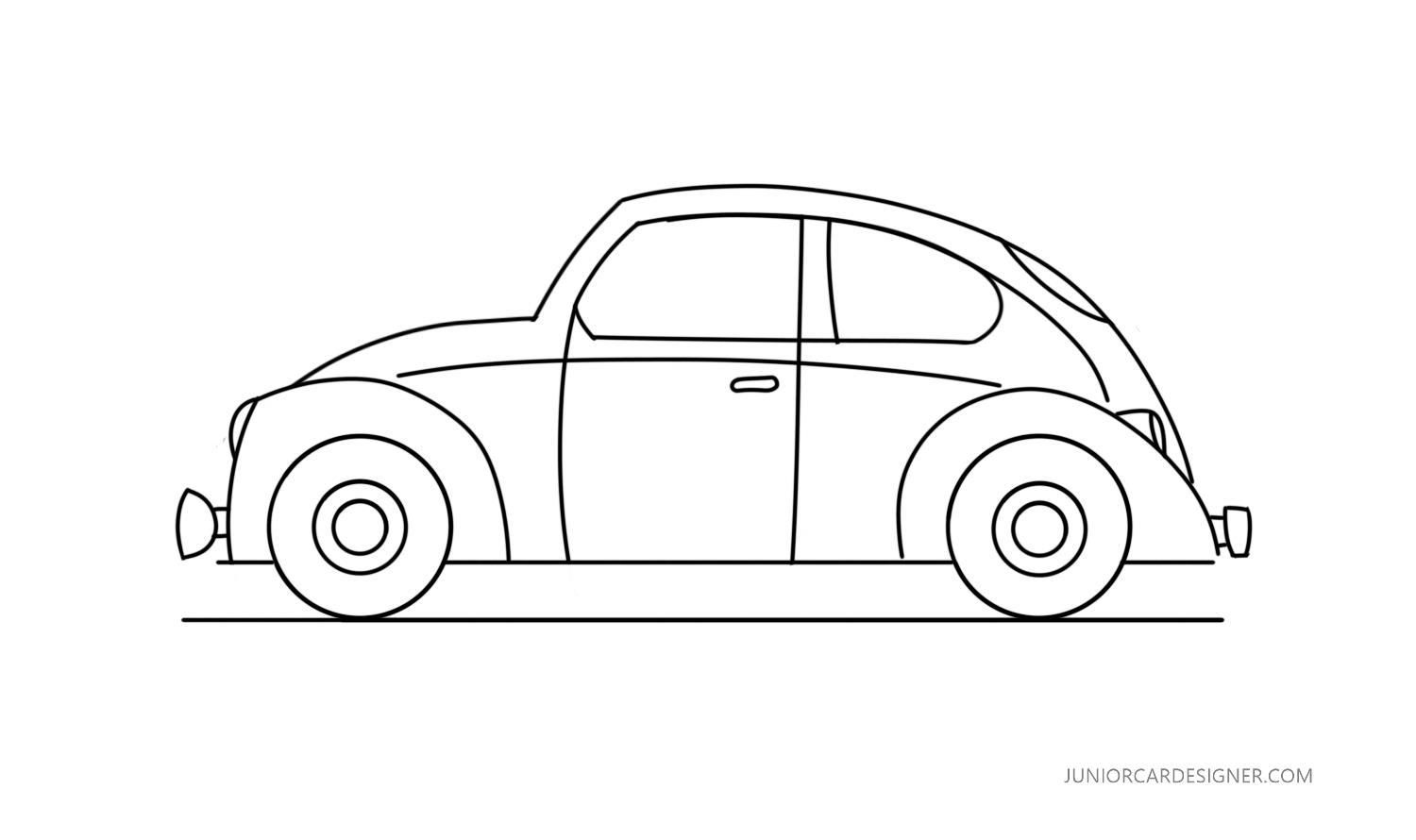 Vw Beetle Drawing At Paintingvalley