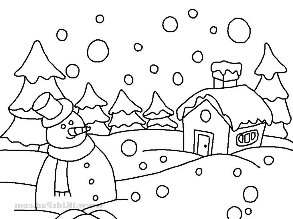 Winter Season Drawing At Paintingvalley