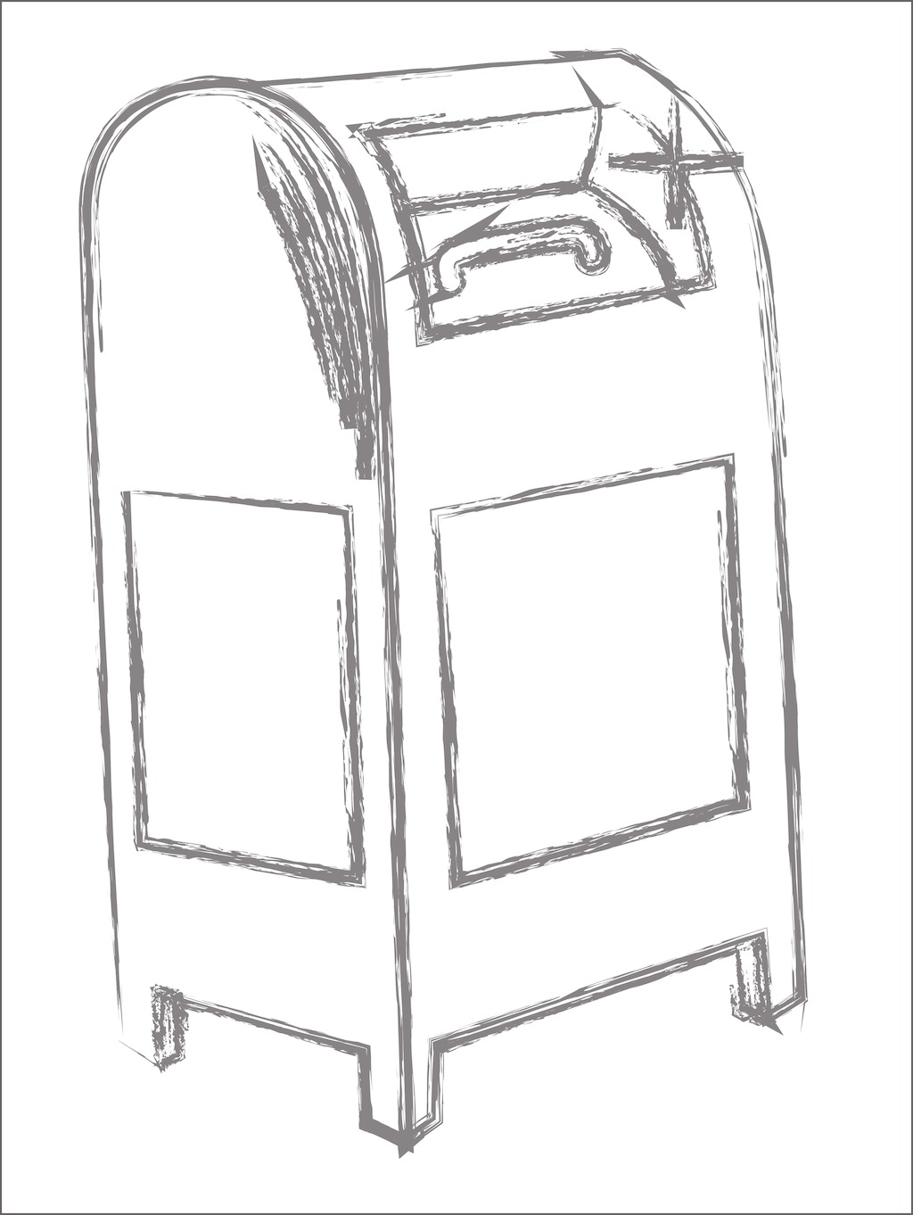 Letter Box Sketch At Paintingvalley