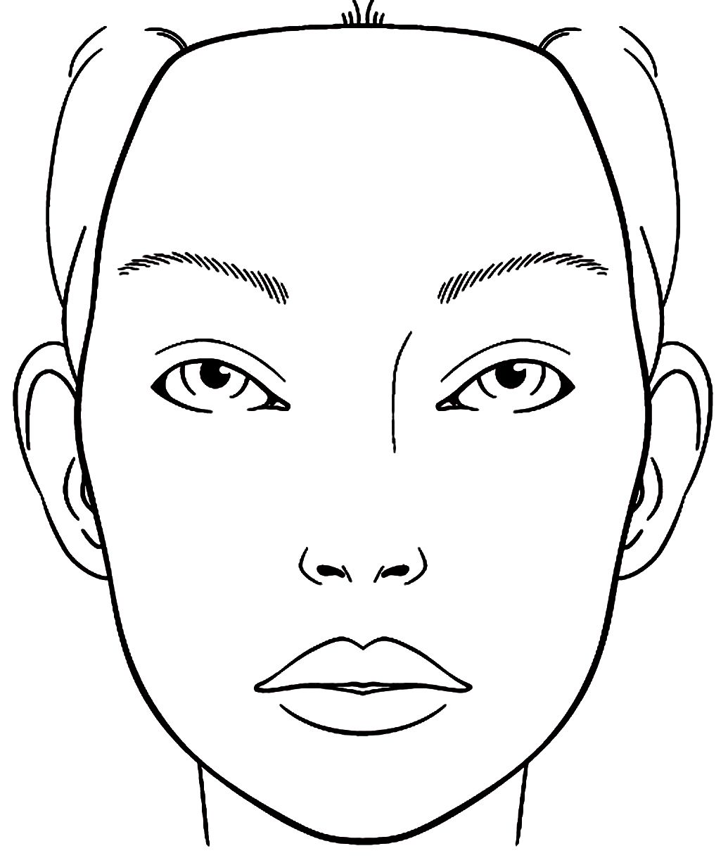 Makeup Sketch Template At Paintingvalley