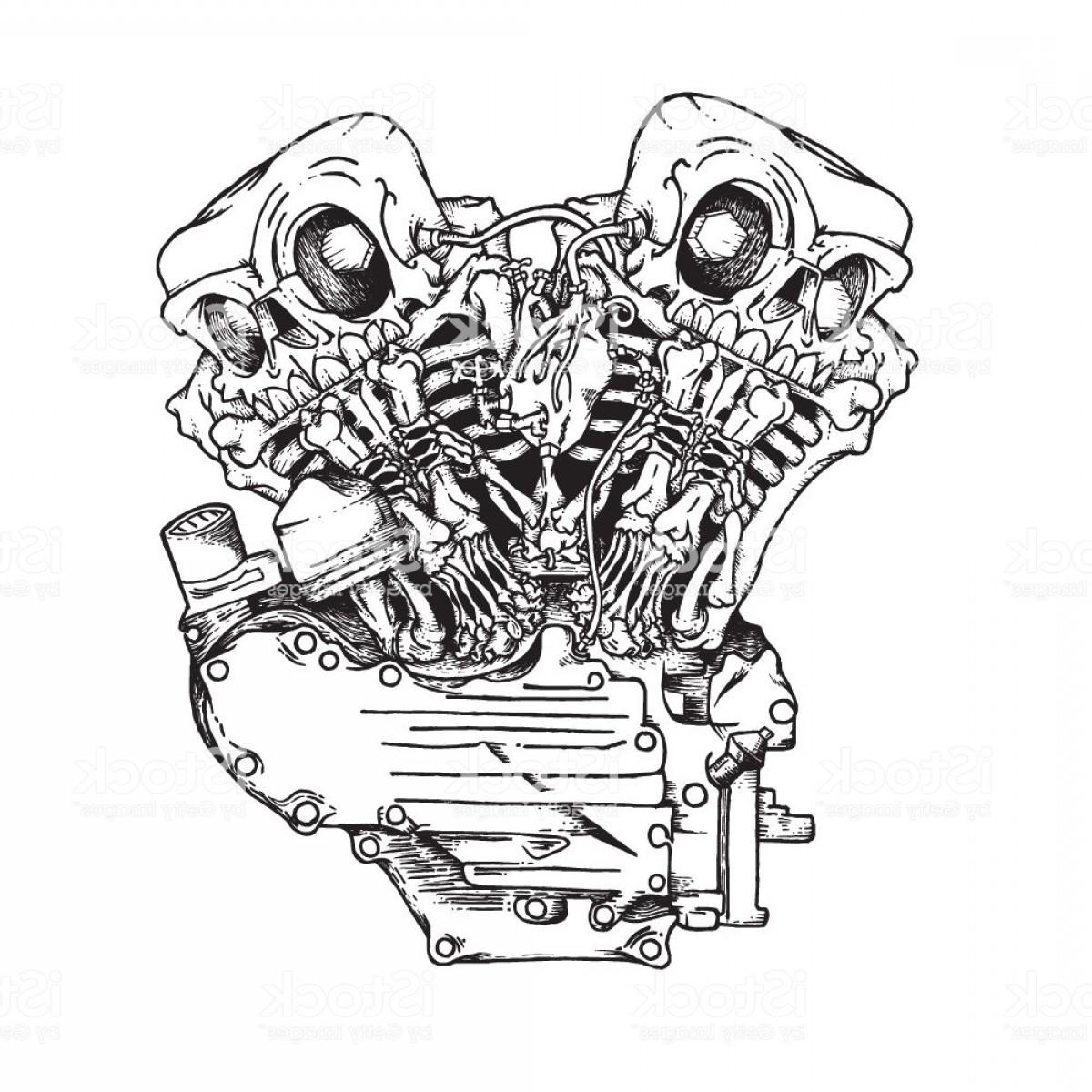 Motorcycle Engine Sketch At Paintingvalley