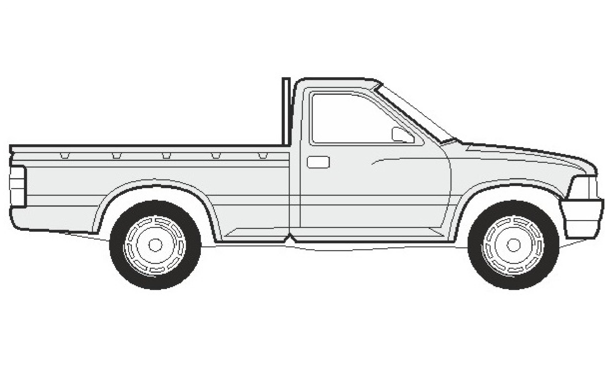 Pickup Truck Sketch At Paintingvalley