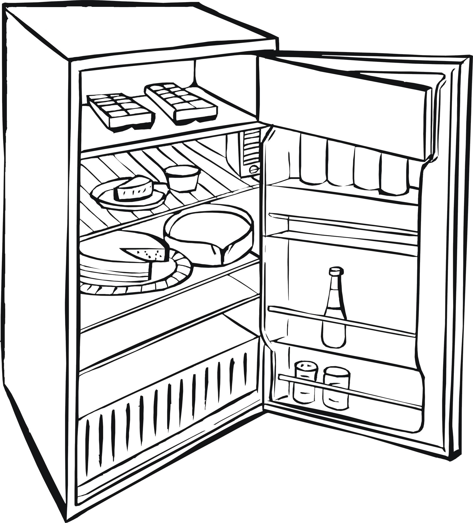 Refrigerator Sketch At Paintingvalley