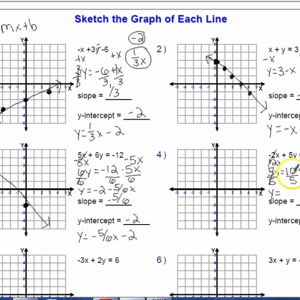 Sketch And Write The Equation For Each Line Worksheet