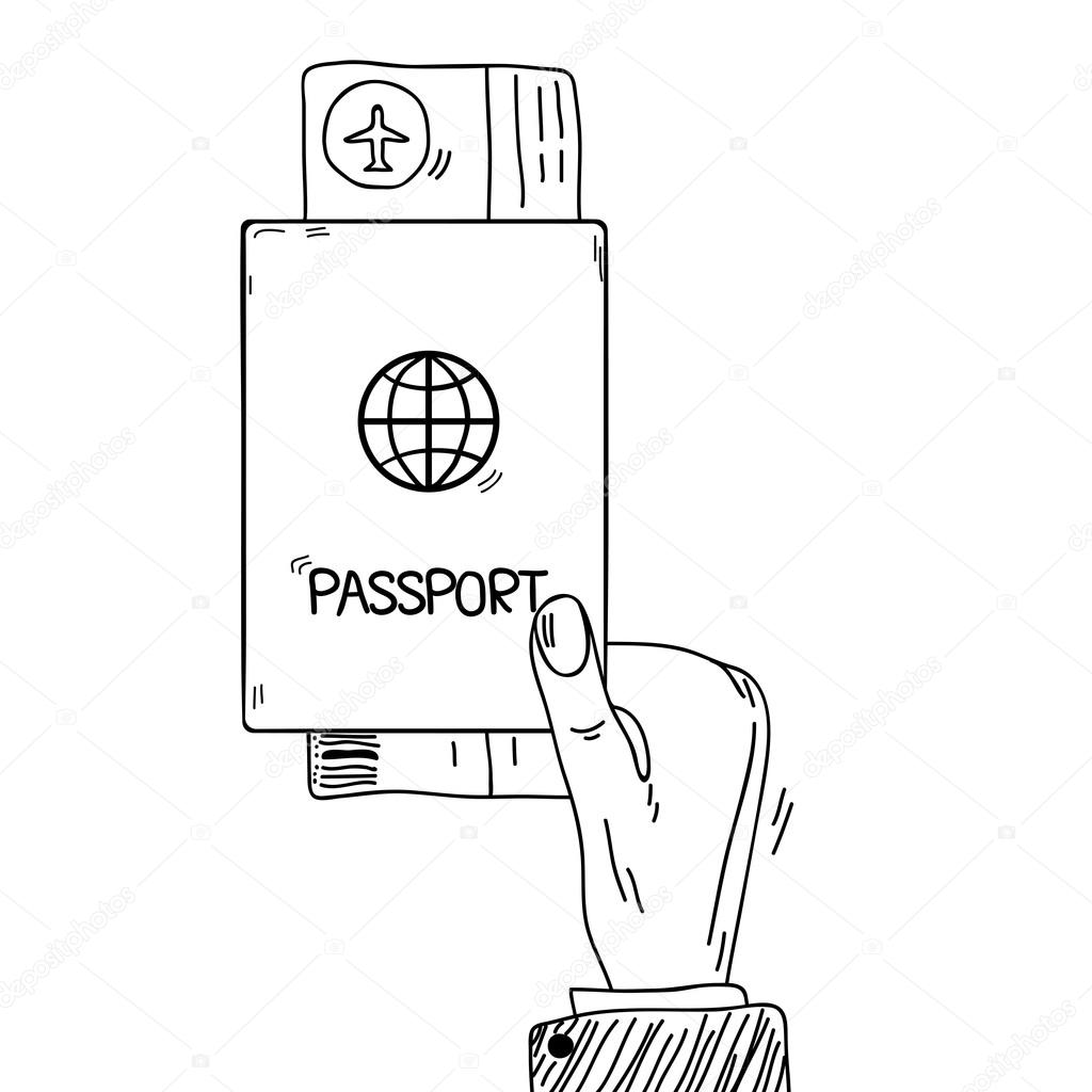 Airplane Ticket Clipart Black And White