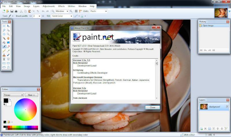 Interface de Paint