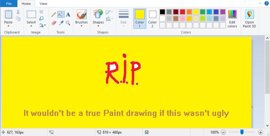 ultima versione di paint per Windows 10