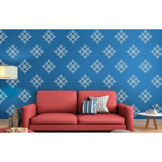 Buds And Blossoms Asian Paints Wall Fashion Stencil