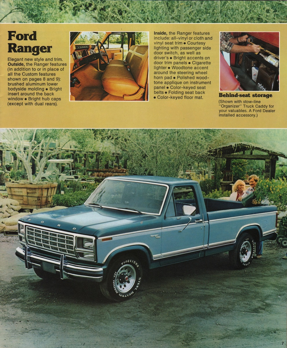 2011 Ford Ranger Brochure 1980 Dodge Truck