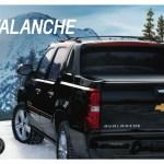 Gm 2013 Chevrolet Avalanche Sales Brochure