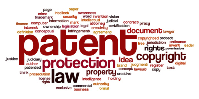 Patent word cloud concept