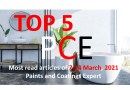 Top 5 Most read articles from 7-14 March, 2021 on Paints and Coatings Expert