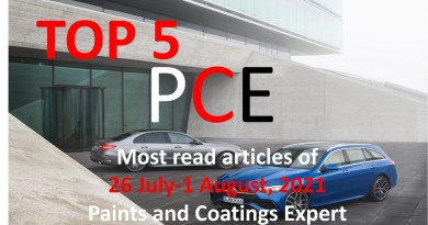 Top 5 Most read articles from 26 July-1 August, 2021 on Paints and Coatings Expert