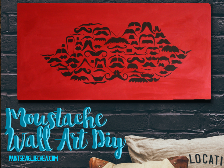 November Inspired Moustache Wall Art DIY