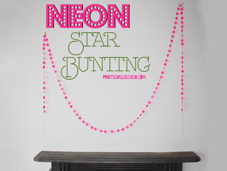 Neon Star Bunting DIY
