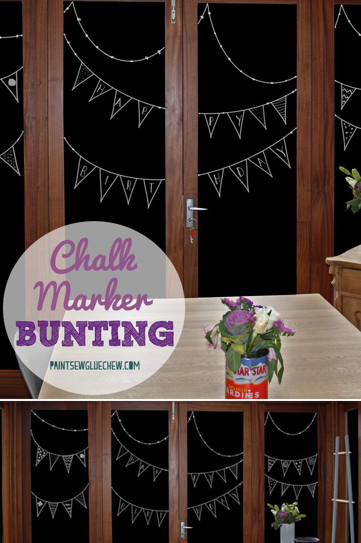 Chalk Marker Bunting