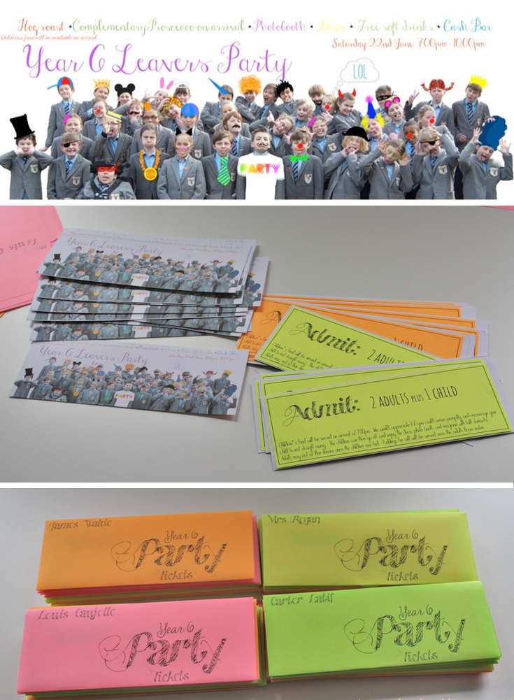 Neon Printable Envelope Diy