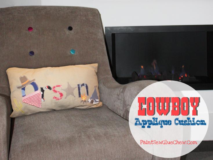 Cowboy Applique Cushion