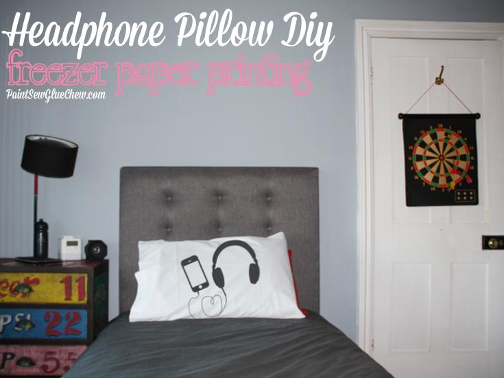 Headphone Pillow DIY